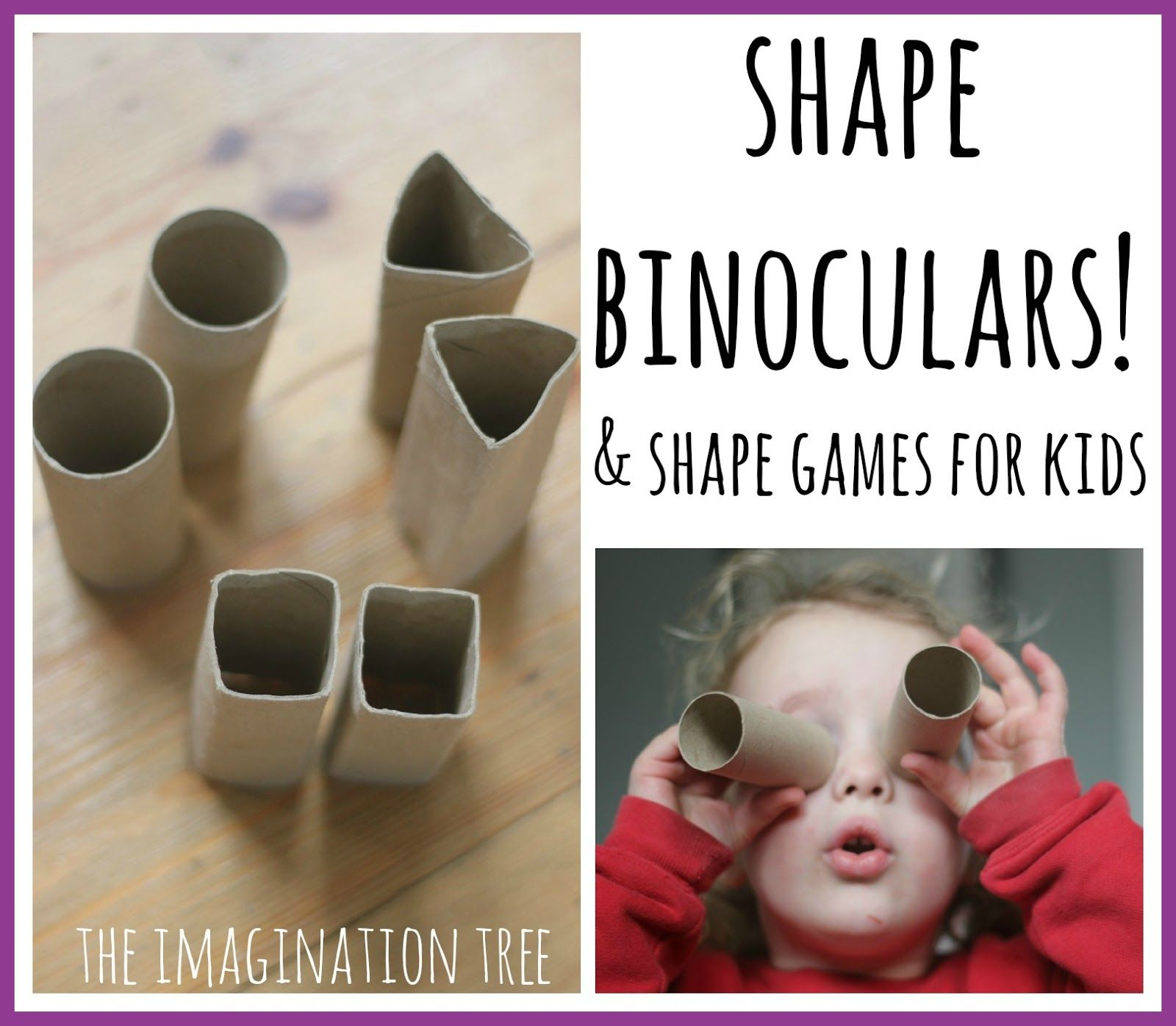 Shape Binoculars And A Shape Hunt Maths Game