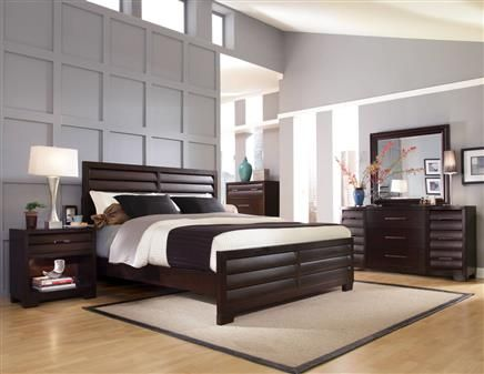 Sable Dark Brown Wood Master Bedroom Set Master Bedrooms