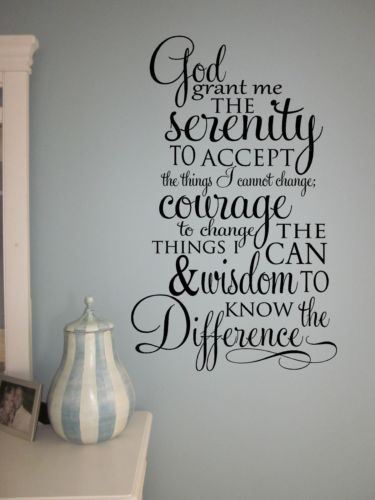 Wall Decal Sticker Words Scripture Serenity Prayer Quote Verse