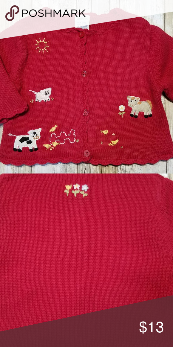 8d9201d05 Gymboree 0-3 mo. HOME ON THE RANGE Cardigan Girls