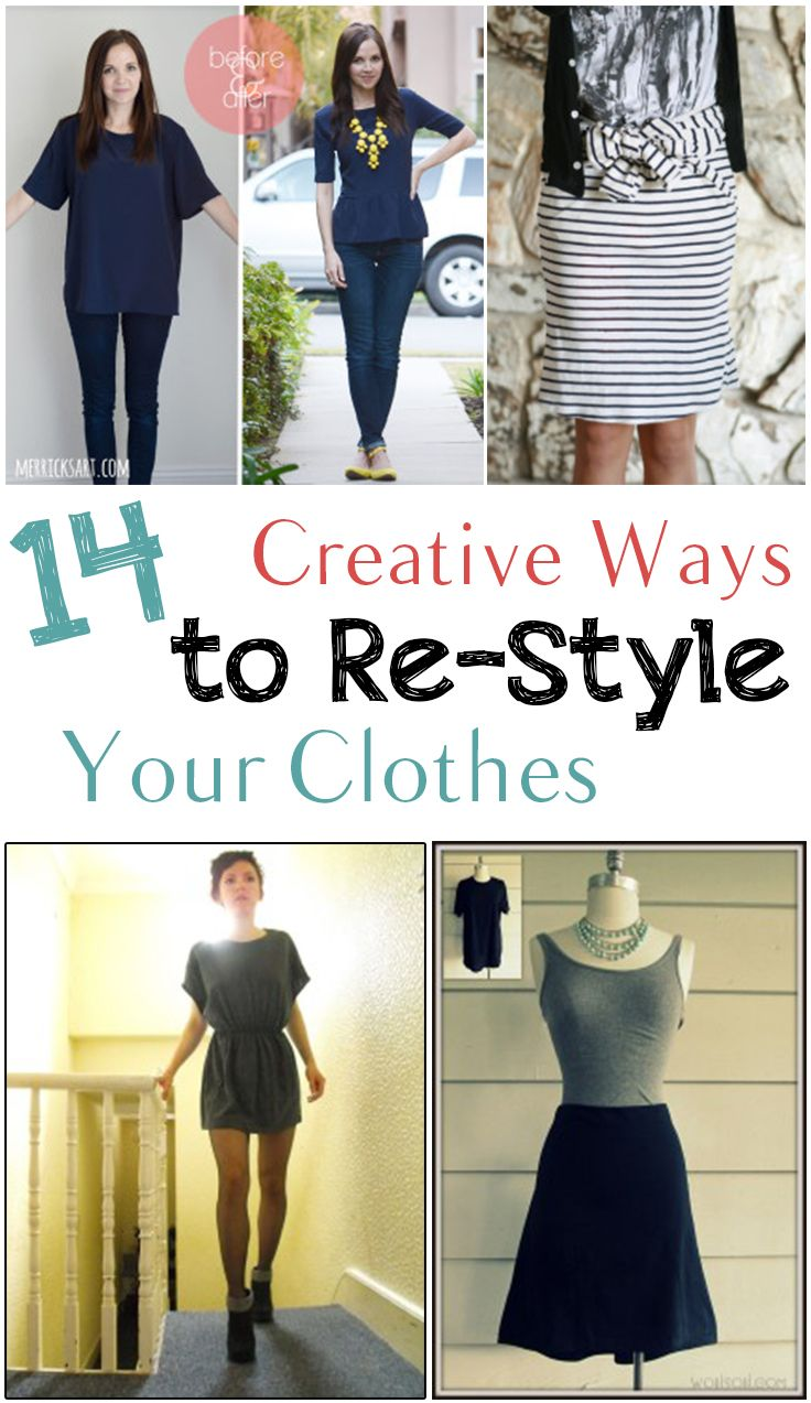 51b992d2c52 How to refashion or re-style your clothes. Great clothing hacks to help you  turn your drab clothes into stylish threads. Great design ideas and  tutorials.