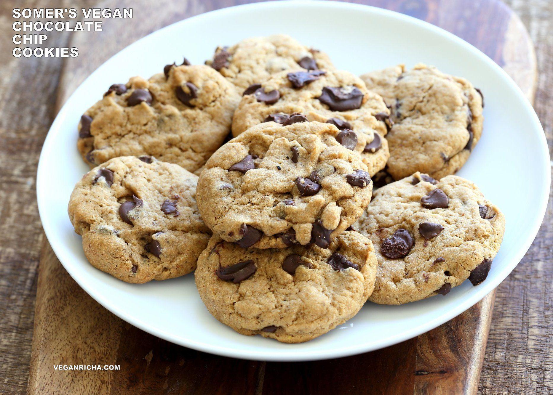 Vegan Chocolate Chip Cookies With Coconut Oil Palm Oil Free Recipe Vegan Richa Recipe Keto Chocolate Chip Cookies Cookies Recipes Chocolate Chip Vegan Chocolate Chip Cookies