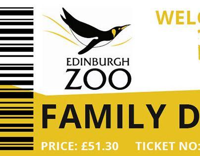 Design For Admission Tickets For Edinburgh Zoo This Was Week 1 Of 52 Weeks Of Design On Reddit More Information Here Edinburgh Zoo Zoo Tickets Ticket Design