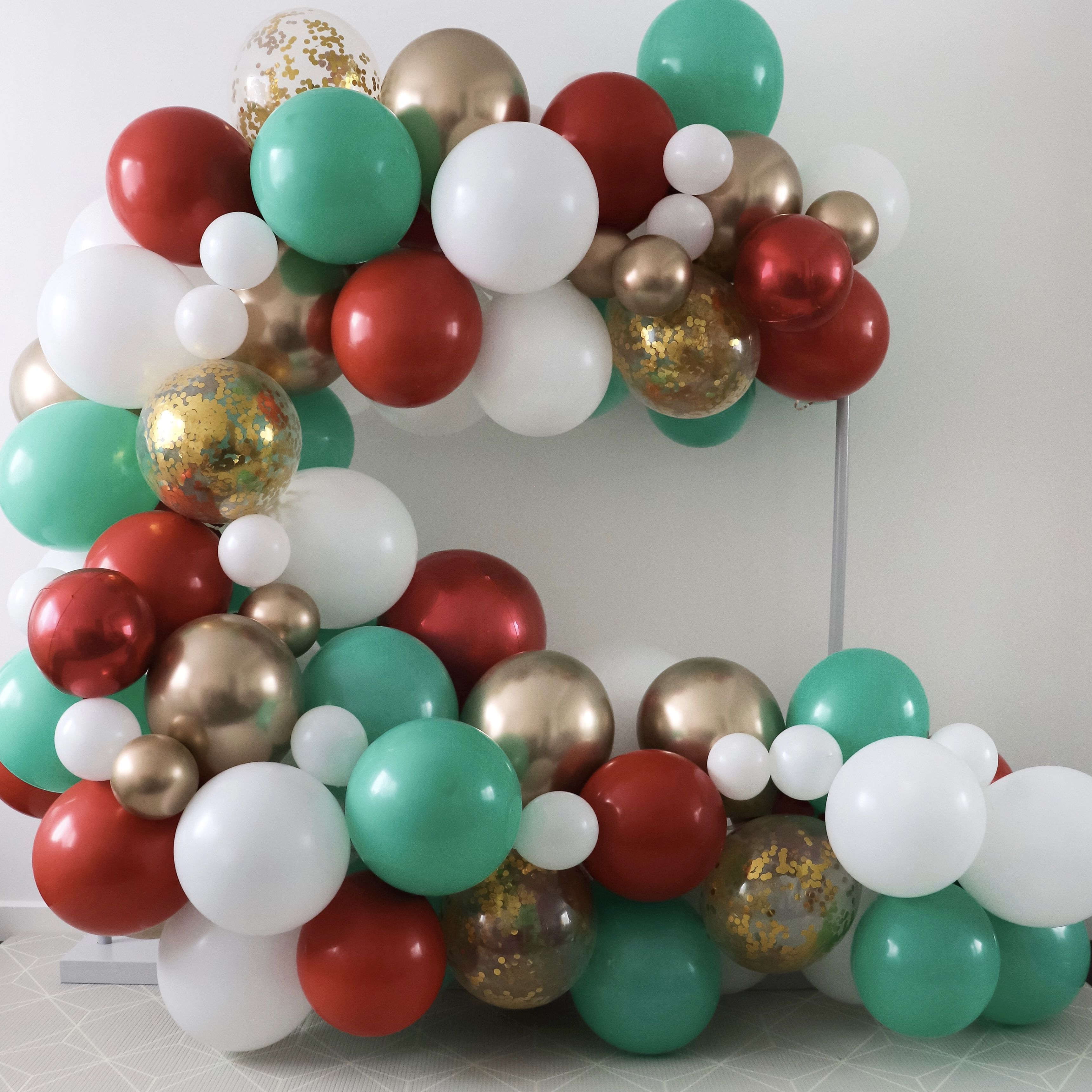 Our REGULAR SIZE balloon garland kits include everything