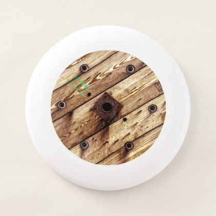 Cool Rustic Wood Wham-O Frisbee - rustic gifts ideas customize personalize