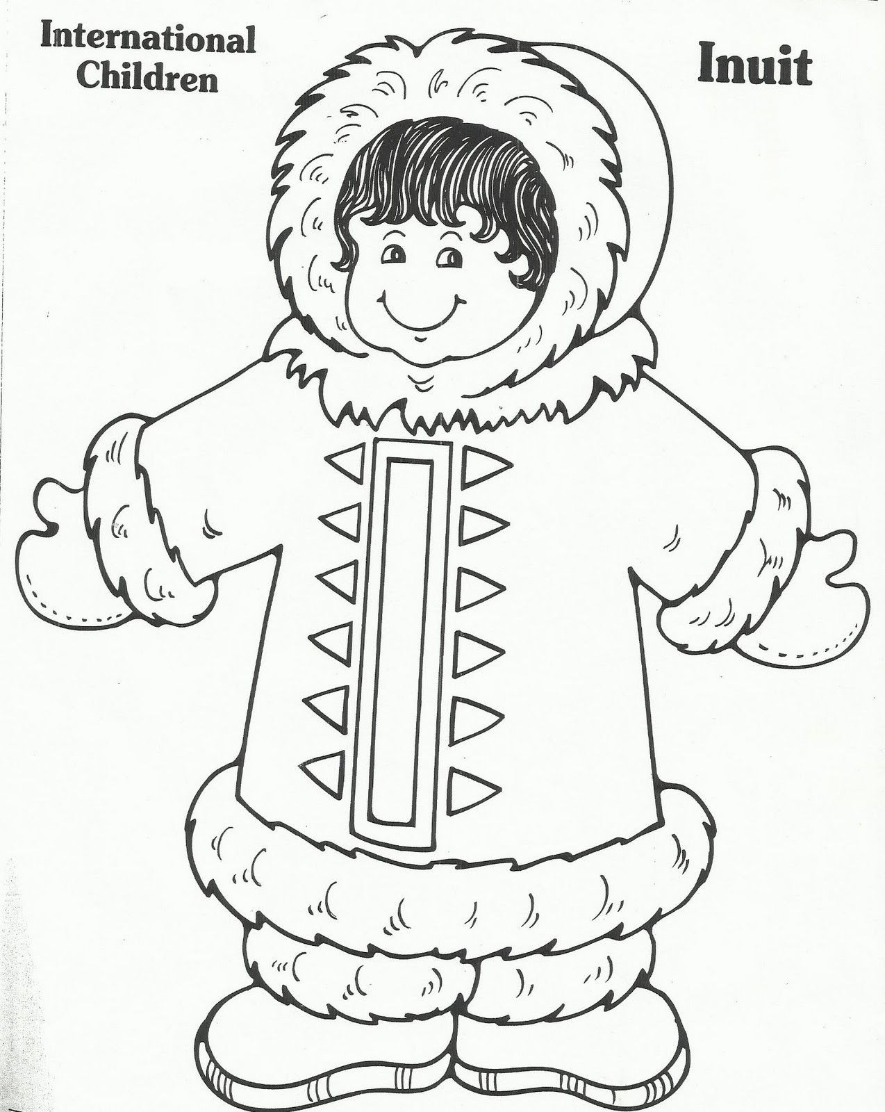 Eskimo Coloring Sheet