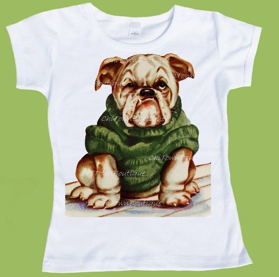 English Bulldog Puppy In Sweater By By Chitownboutique On Etsy