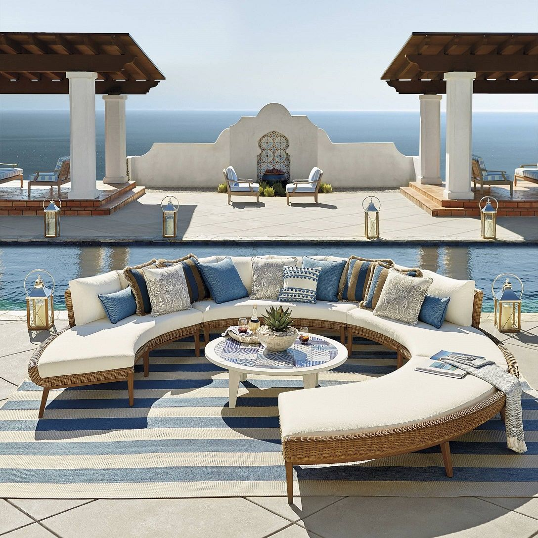 Sotto Modular Wicker Rounded Seating Outdoor Furniture Collection