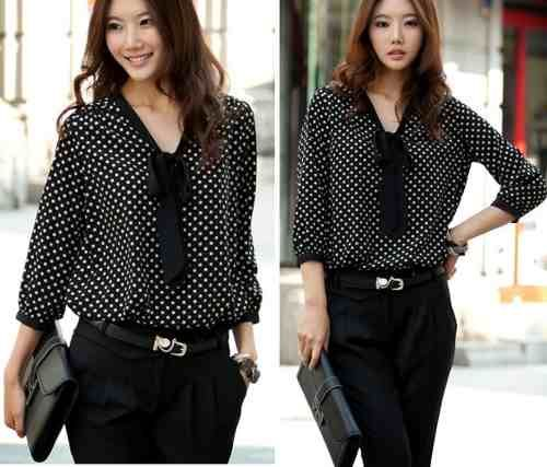 376662a84268 blusas elegantes en chifon manga larga - Buscar con Google | Jacket ...