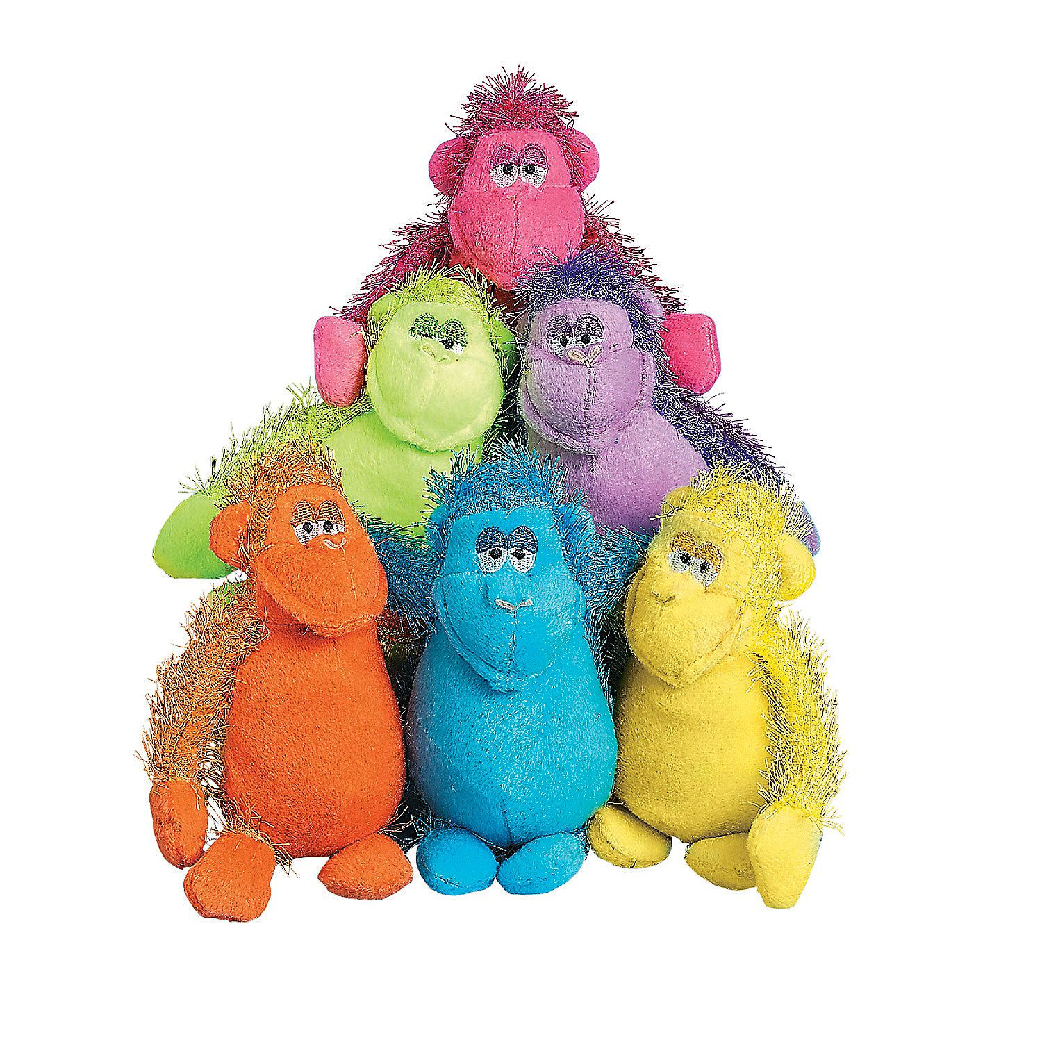 Bright Stuffed Gorillas Plush, Plush animals, Novelty toys