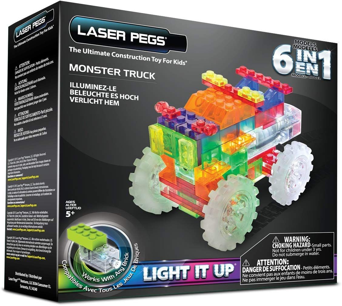 Laser pegs 6in1 monster truck building set only 482