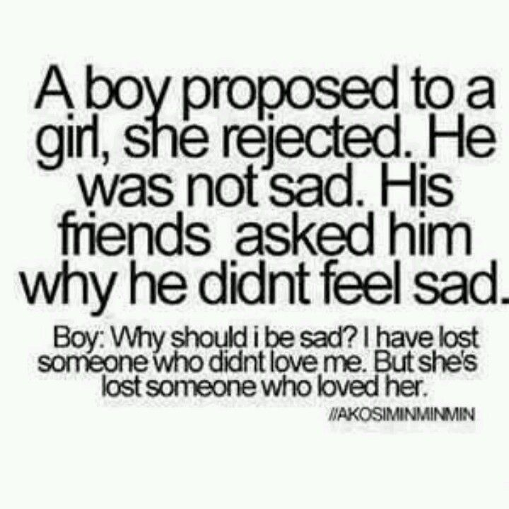 Just flip it so the boy is losing a girl and cared about him