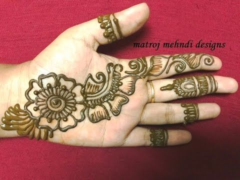 Latest  mehndi designs easy arabic henna for beginners by jyoti sachdeva youtube also rh ar pinterest