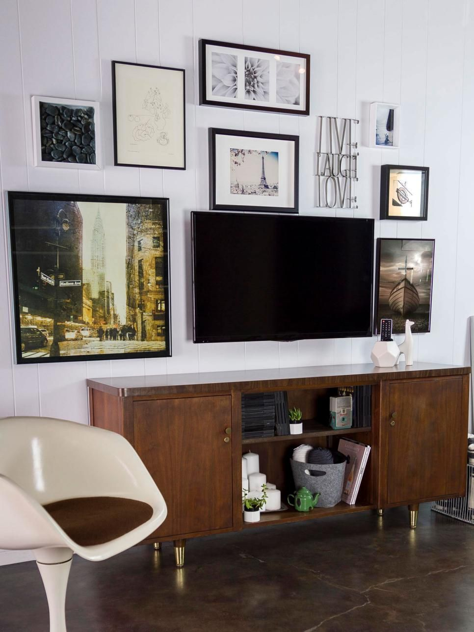 3 Diy Ways To Decorate Around A Television Living Room