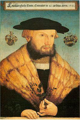 Fuchs in 1541, geschilderd door Heinrich Füllmaurer