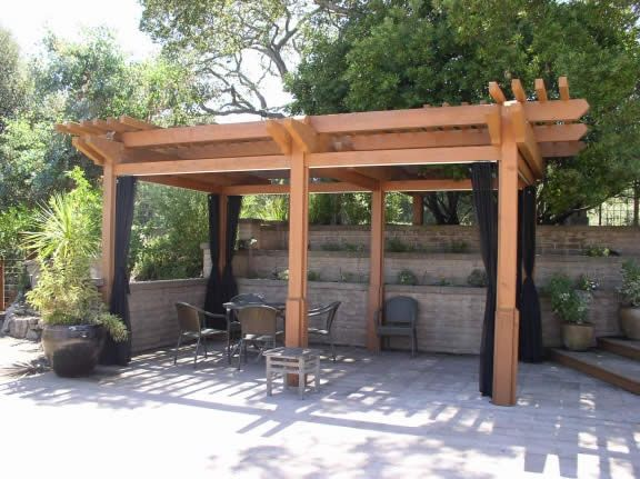 Mosquito Curtains For A Pergola Or Gazebo. This Would Be Great
