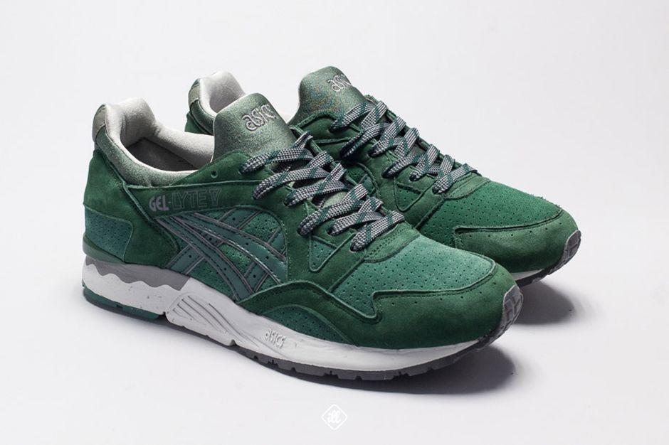 ASICS Gel Lyte V Dark Green | Asics, Asics gel lyte, Sneakers