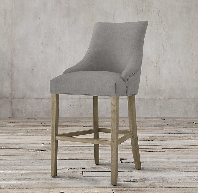 Martine Fabric Stool Fabric Dining Chairs Leather
