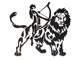 schütze und löwe
