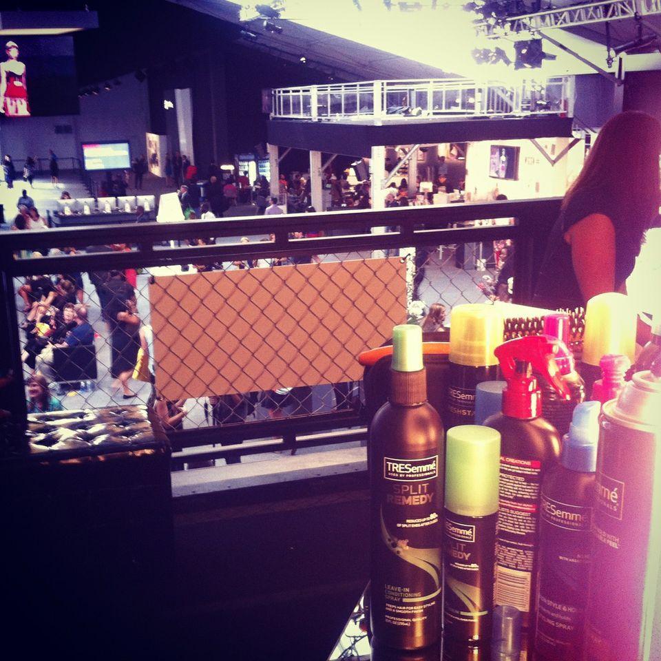 TRES product workin' hard at #mbfw!   #tresmbfw #tresemme #hair @Mercedes-Benz Fashion Week #FashionWeek #NewYork #NYC