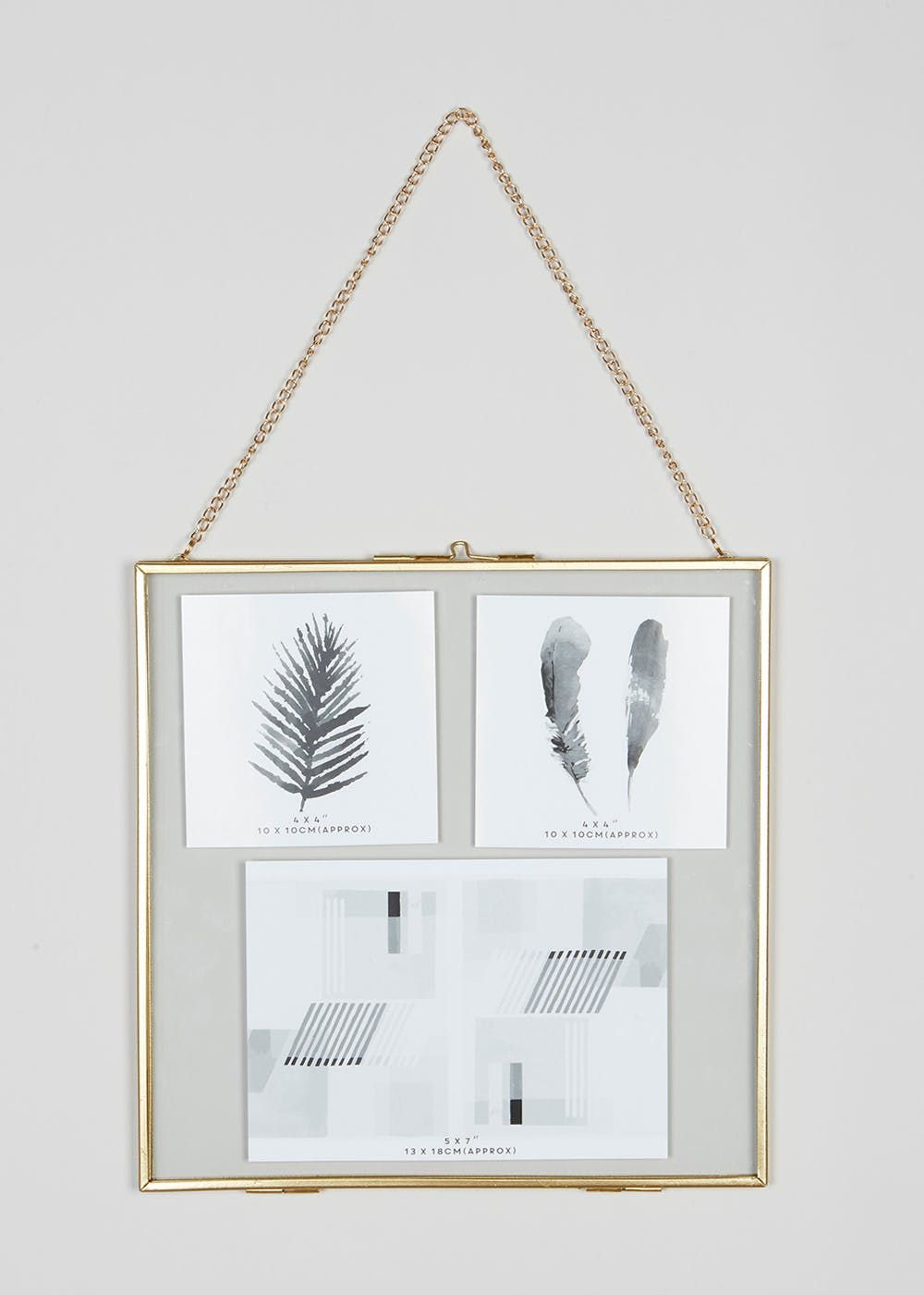 80fd6b8364e Large Hanging Metal Photo Frame (26cm x 26cm) – Gold in 2019