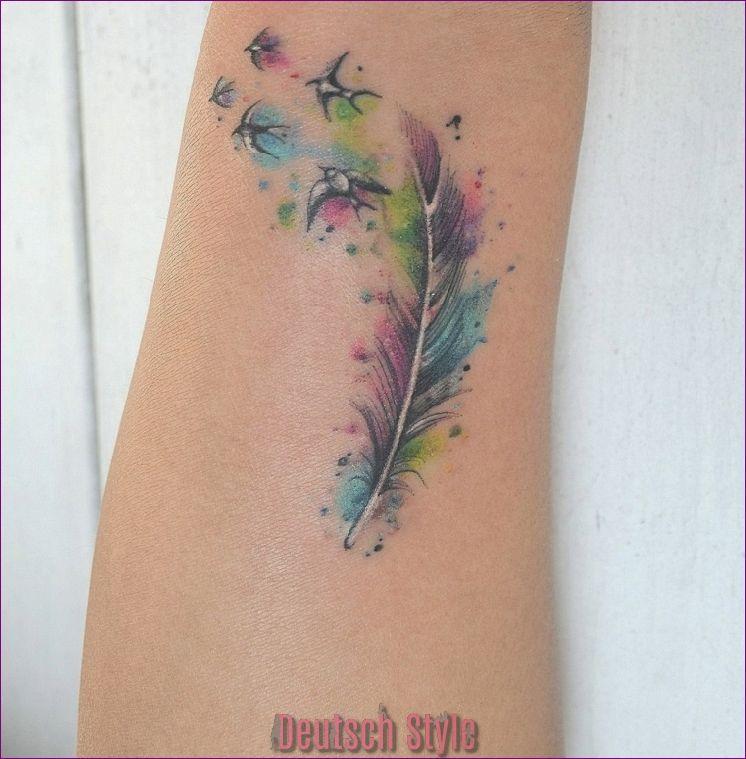 Feder Tattoos Bedeutet Design Stile Und Mehr Als 50 Fotos Zum
