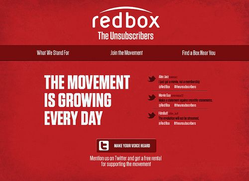 redbox the unsubscribers digital on Flickr redbox campaign