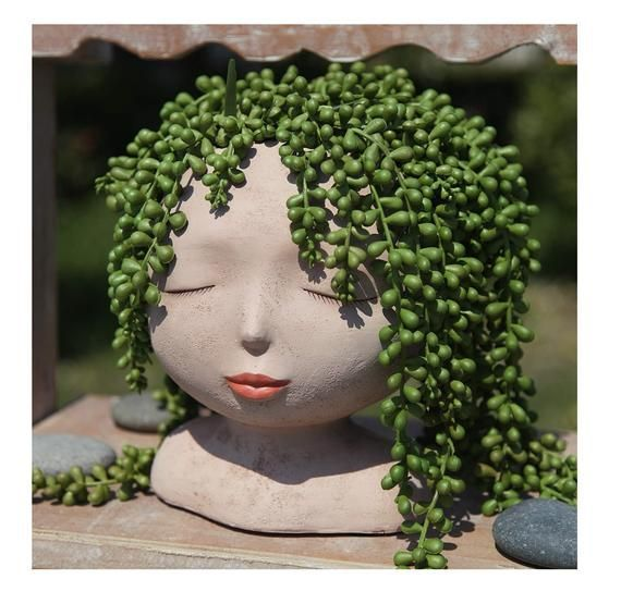 Female Head Face Planter Plant Pot Plants Planters