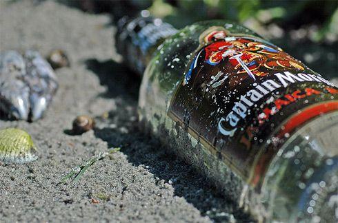 Drink rum on a Caribbean beach