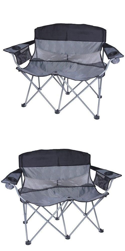 Chairs And Seats 19985: Outdoor Portable Sturdy Black Two Person Folding  Camping Sport Love Seat