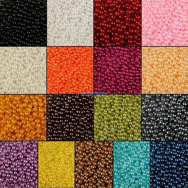 4/6/8/10mm Round Gem Pearl Loose Beads For Jewelry Crafts Necklace Making DIY #UnbrandedGeneric