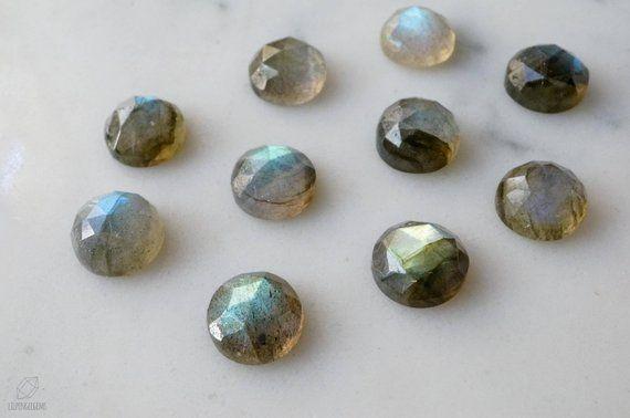 10mm Rose Cut Labradorite Cabochon Blue Flash Grey Gemstone Gray Cab Flashy Rose Cut Gem In 2019 Products Labradorite Blue Gemstones