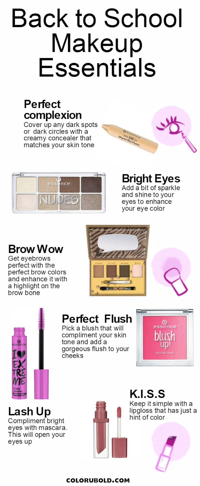 Affordable Back to School Makeup Essentials Back to