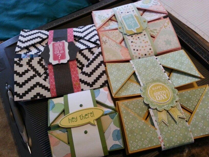 napkin fold cards  folded cards napkin folding paper crafts