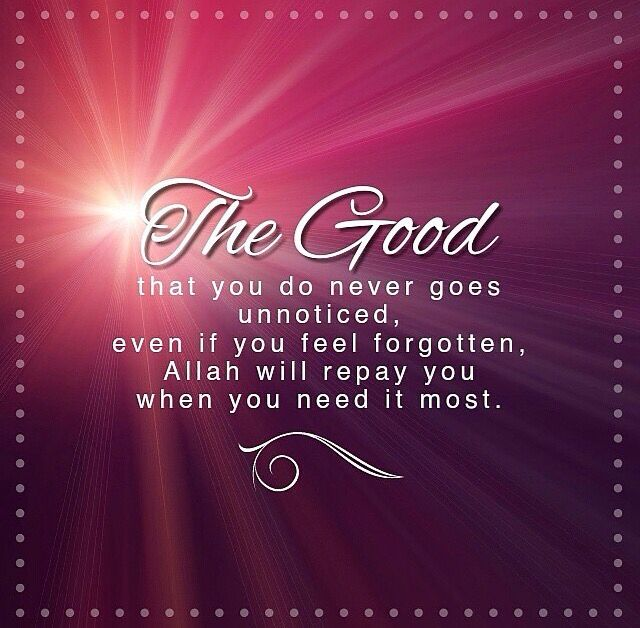 The good you do