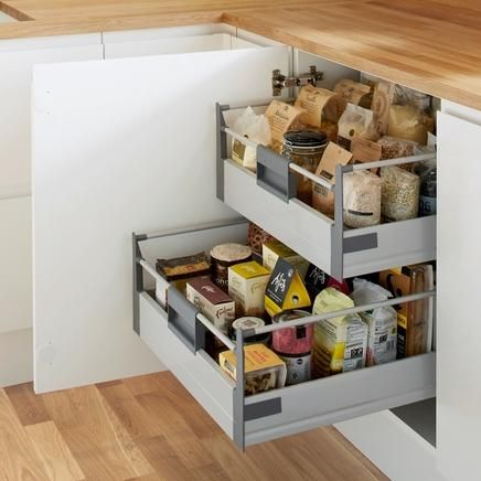Kitchen Storage Solutions deep internal storage drawer | kitchen storage solutions | howdens