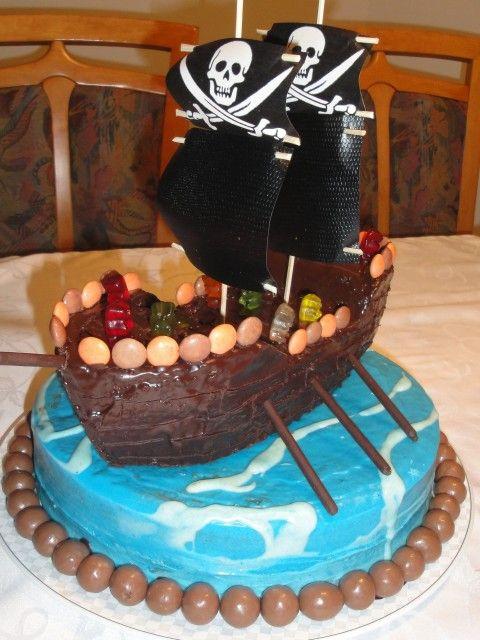 Piratenschiff Torte Wasser Motivtorten Figuren Pirate Baby