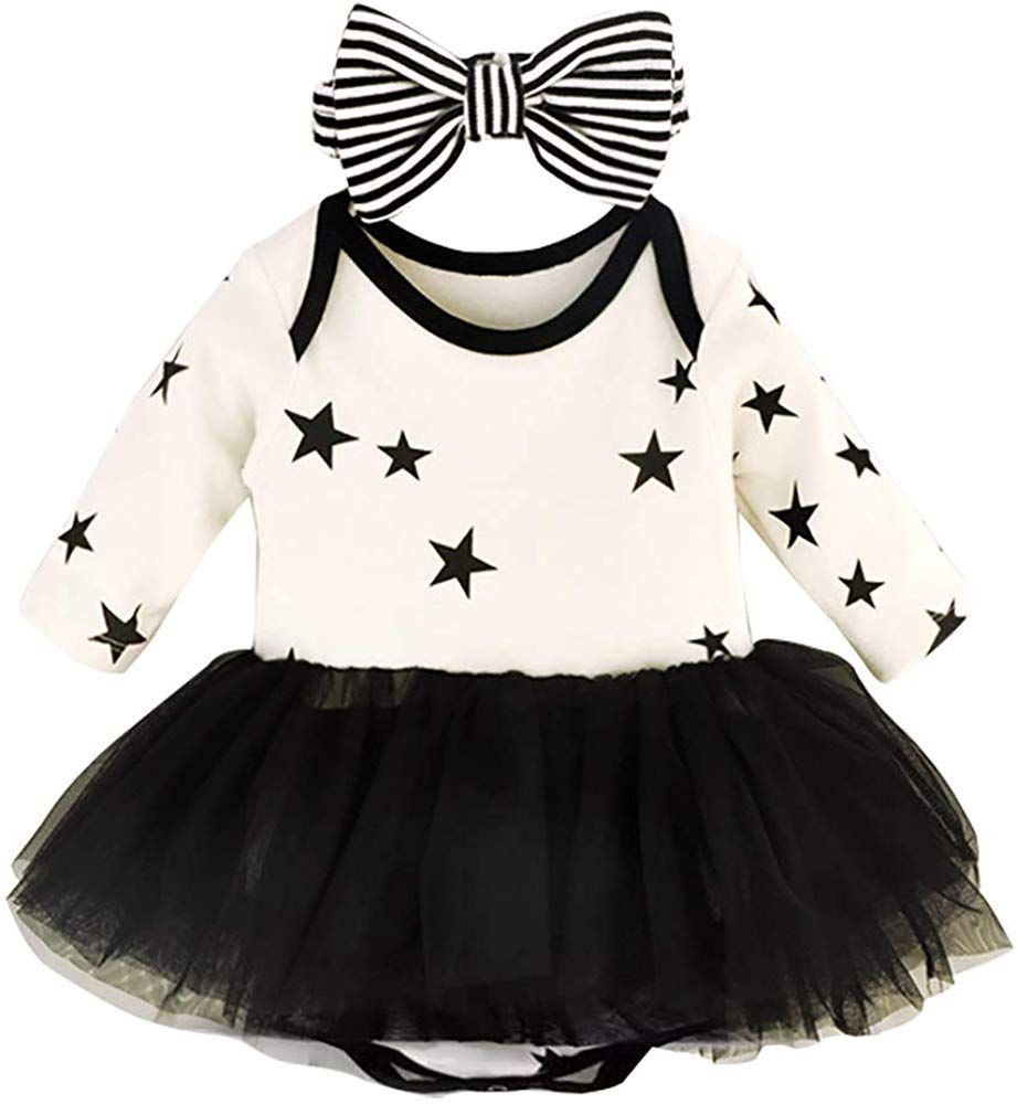 YOUNGER TREE Newborn Baby Girls Valentine/'s Day Outfit Long Sleeve Romper Tutu Skirt Headband Leg Warmer 4PCS Outfits