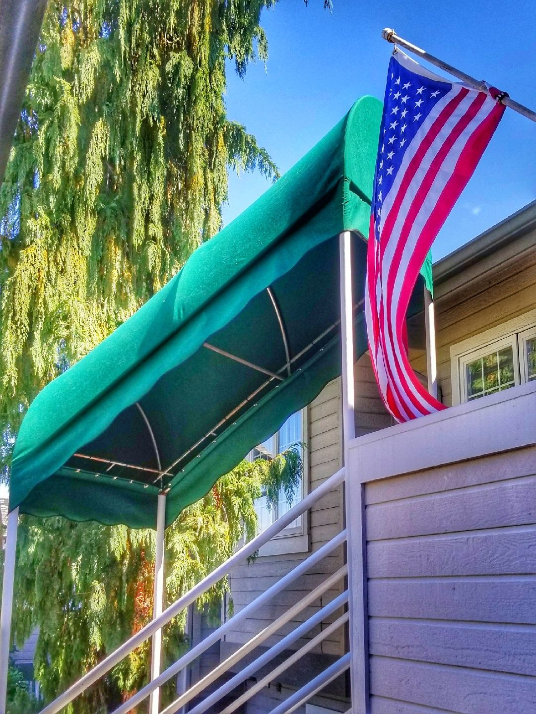 Beautiful Day For Some Dome Awnings To Be Installed Visitwenatchee Winecountry Residential Awnings Outdoor Decor Canopy