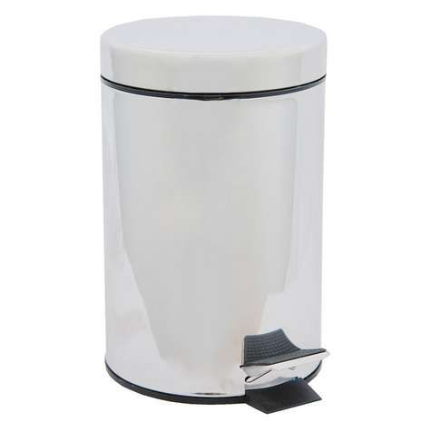 Eko Pedaalemmer 3 Liter.Dunelm Bathroom Basics Collection Pedal Bin Silver Home