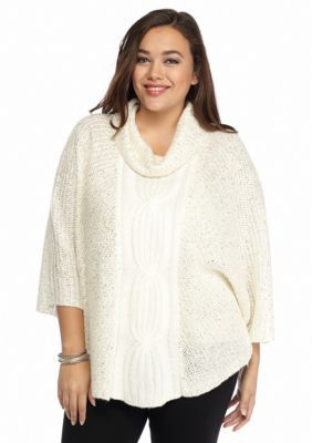 New Directions  Plus Size Cable Knit Sweater