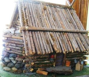 Simplest Way To Make A Log Cabin Diy Log Cabin How To Build A Log Cabin Log Shed