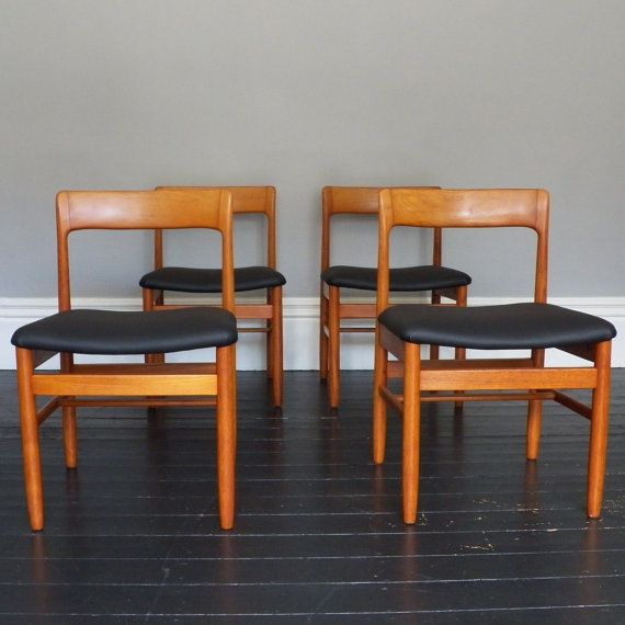 A set of 4 A Younger Vintage Teak Dining Chairs by LinneyHughes