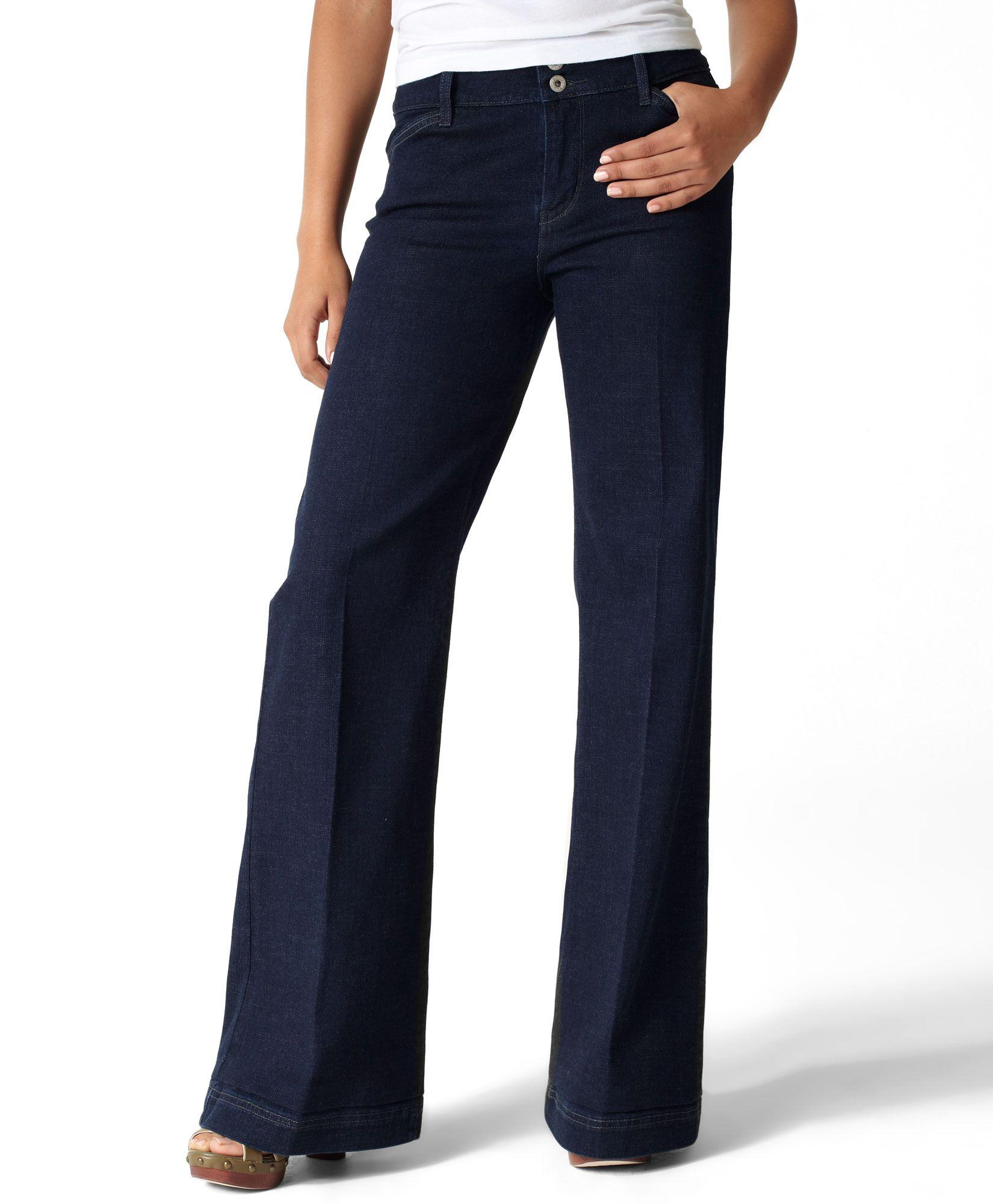 Leviu0026#39;s Double Button Wide Leg Jeans | Hmm...What should I wear? | Pinterest | Wide leg jeans ...