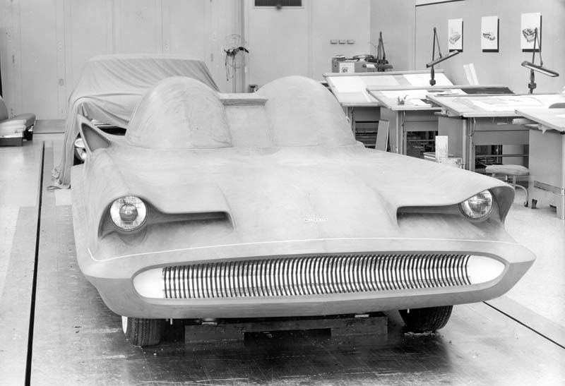 GHIA factory in Torino: building Lincoln Futura, that will become the best known show car in the world, the BATMOBILE