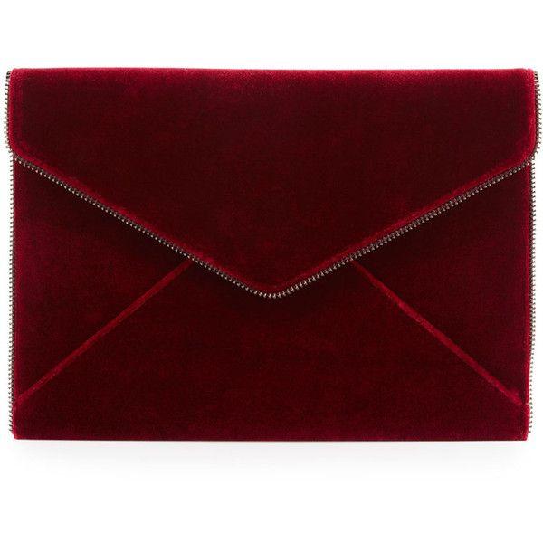 9f8c2cb846dd Rebecca Minkoff Leo Velvet Envelope Clutch Bag found on Polyvore featuring  bags
