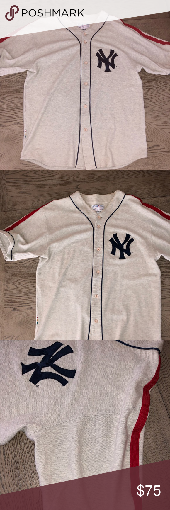 Rare Ny Yankees Vintage Cooperstown Classic Jersey Cooperstown Ny Yankees Clothes Design