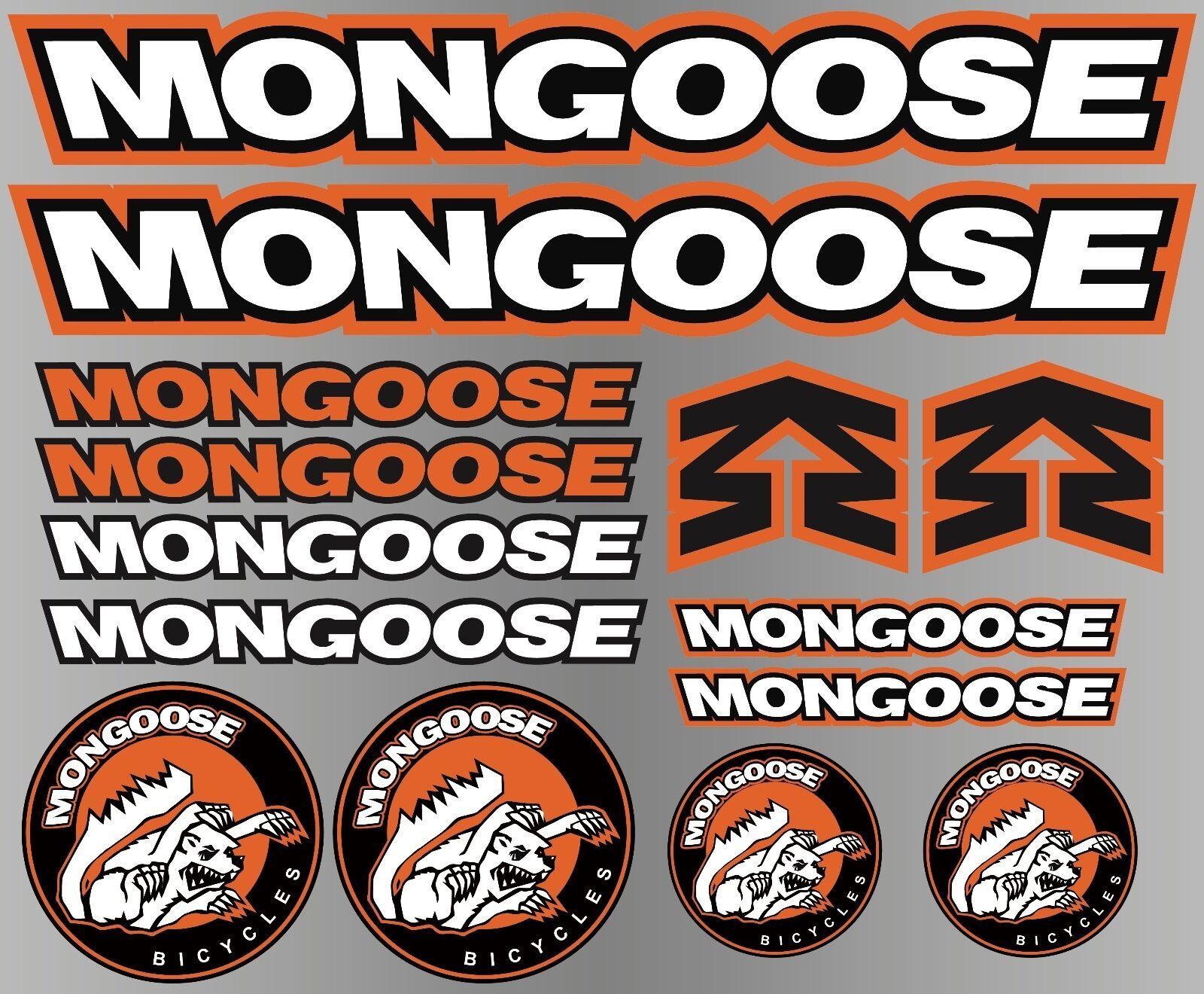 Mongoose Decals Stickers Sheet Cycling Mtb Bmx Road Bike Printed Logo Ebay Bmx Mongoose Mongoose Bike [ 1320 x 1600 Pixel ]