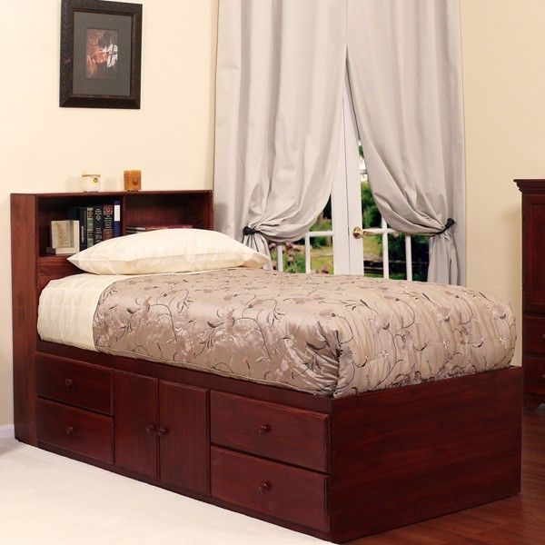 Extra Long Twin Storage Bed Birch Wood In 2019 Twin