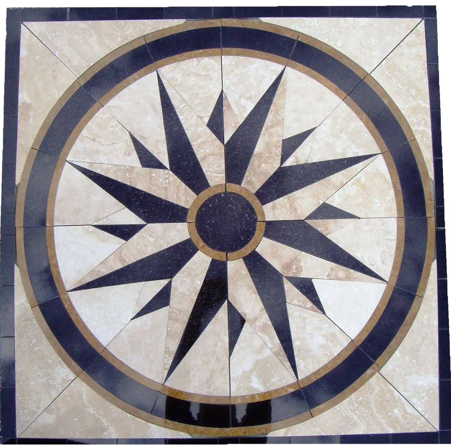Tile floor medallion marble mosaic north star design 34 tile floor medallion marble mosaic north star design 34 amazon dailygadgetfo Choice Image